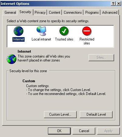 ie tools security