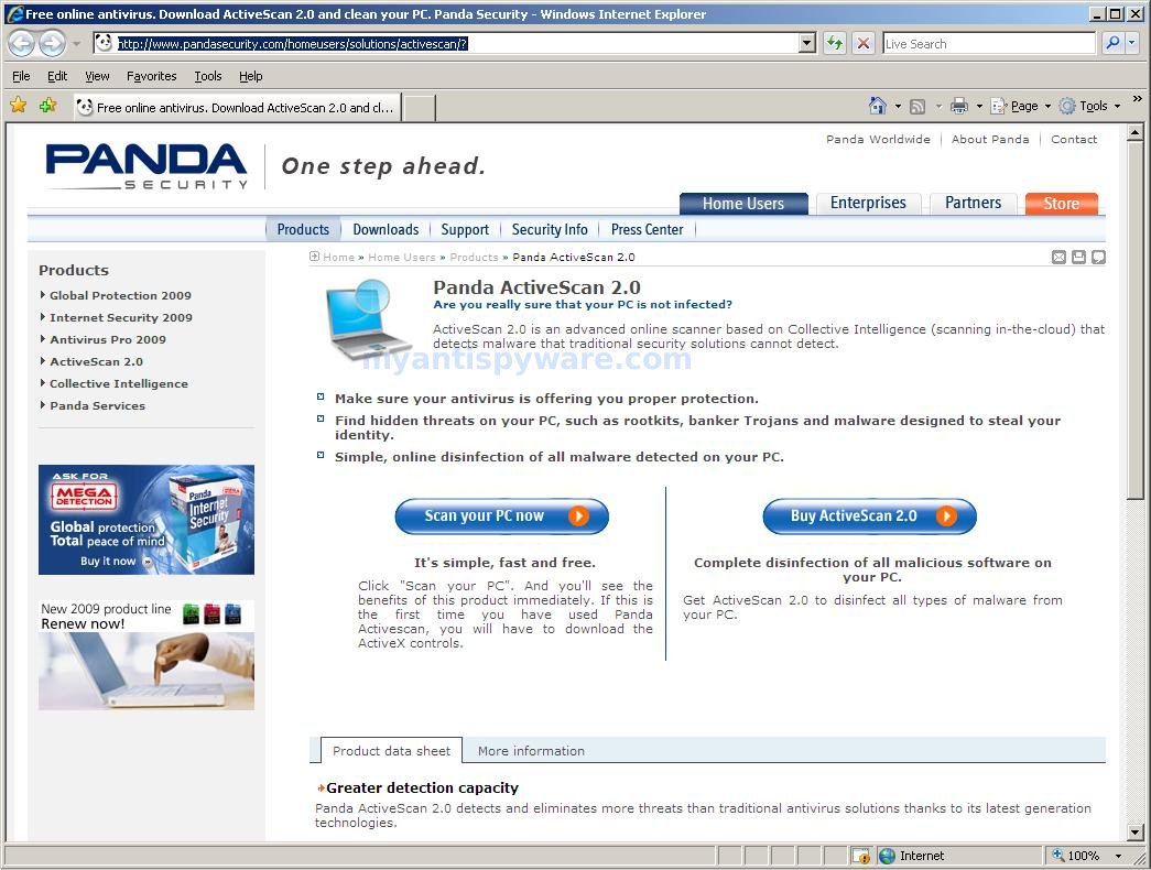 How to use Panda Online Scanner (Panda ActiveScan)