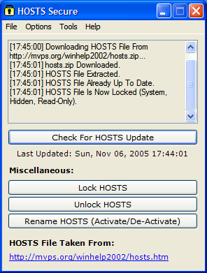 hosts secure