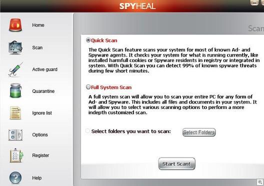 spyheal rogue antispyware