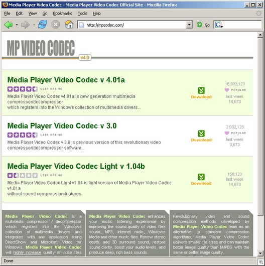 MP Video Codec