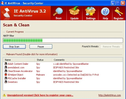 IE Antivirus screenshoot