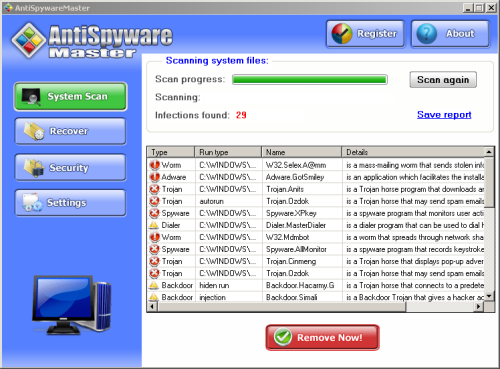antispywaremaster screenshoot