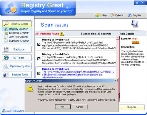RegistryGreat screenshoot