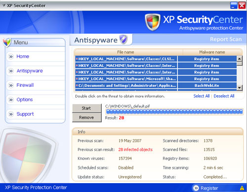 XPSecurityCenter screenshoot
