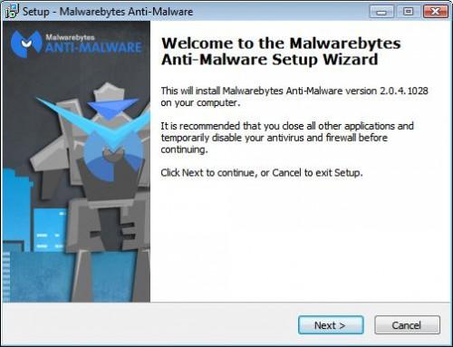 Malwarebytes Anti-Malware setup