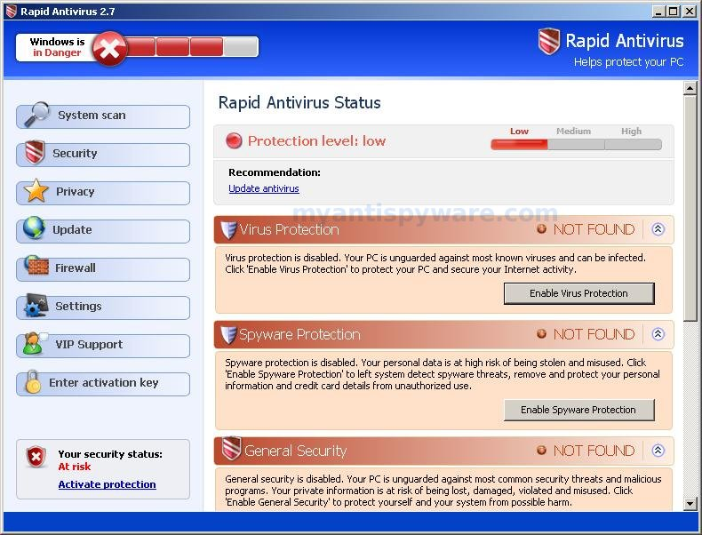 how to remove system antivirus 2008