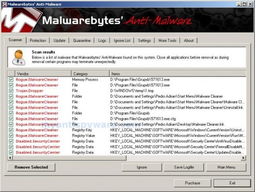 Malware Catcher 2009-mbam