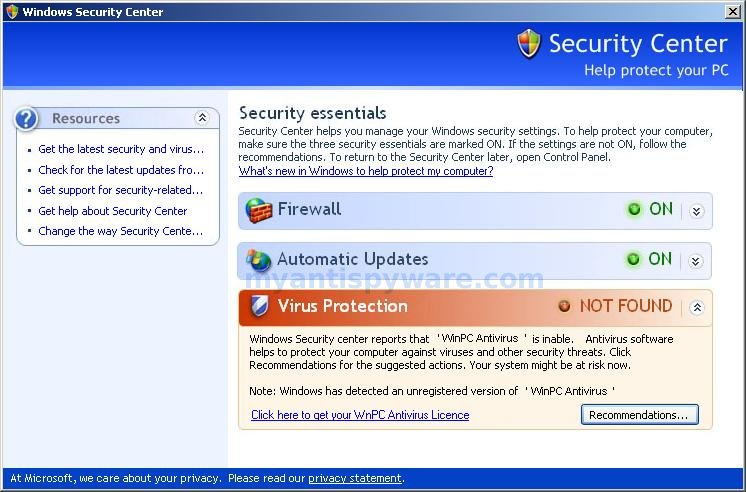 instructions on locating anti virus and firewall software