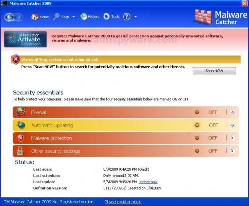 malware-catcher-2009-status