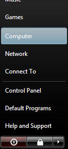 start menu computer option