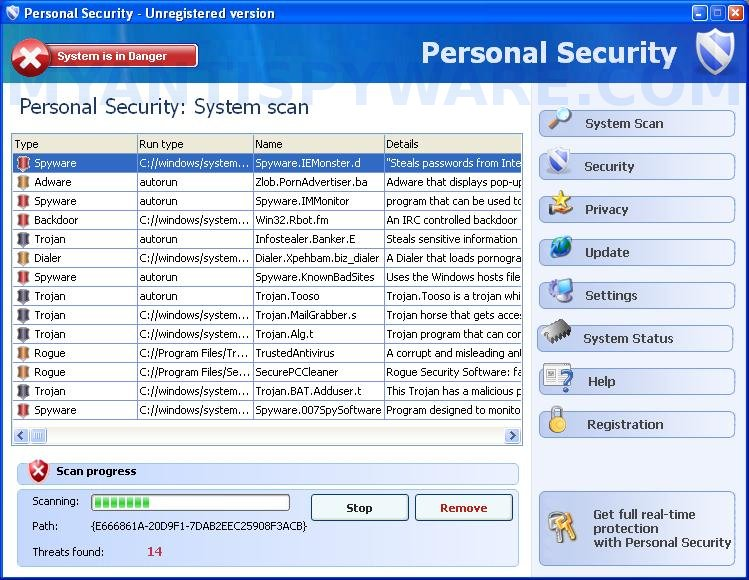 Personal Security Spyware