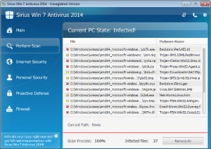 Sirius Win 7 Antivirus 2014