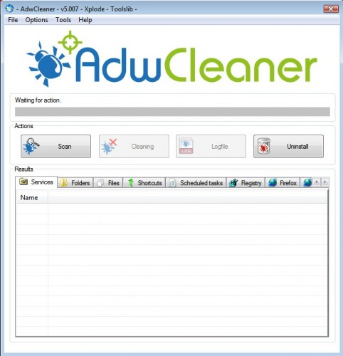 adwcleaner screen