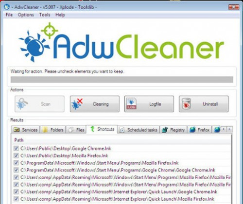adwcleaner removes operatingsystemerror