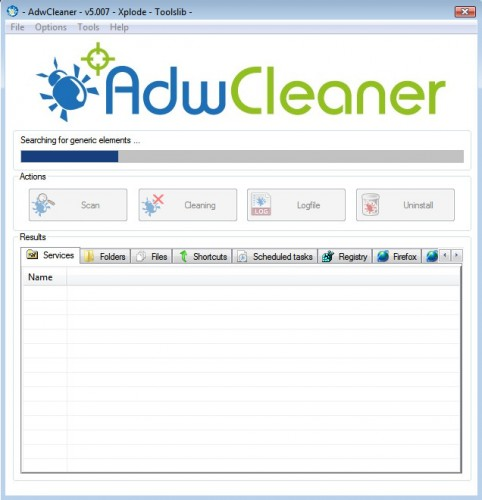 adwcleaner perform a scan