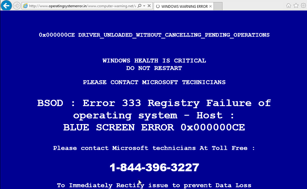 operatingsystemerror.in fake alert bsod