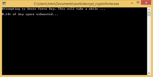 decrypt cryptinfinite brute force process