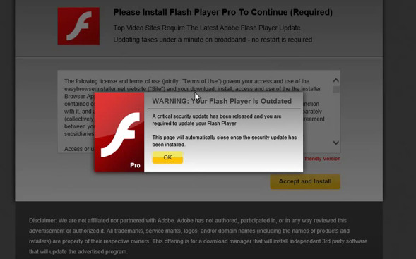 fake update adobe flash player pop-up