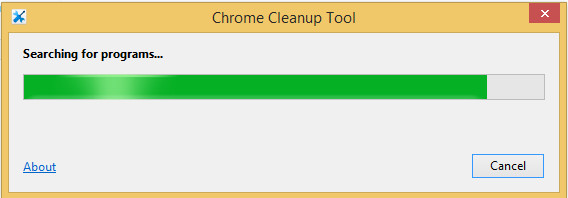 google cleanup tool searching for programs
