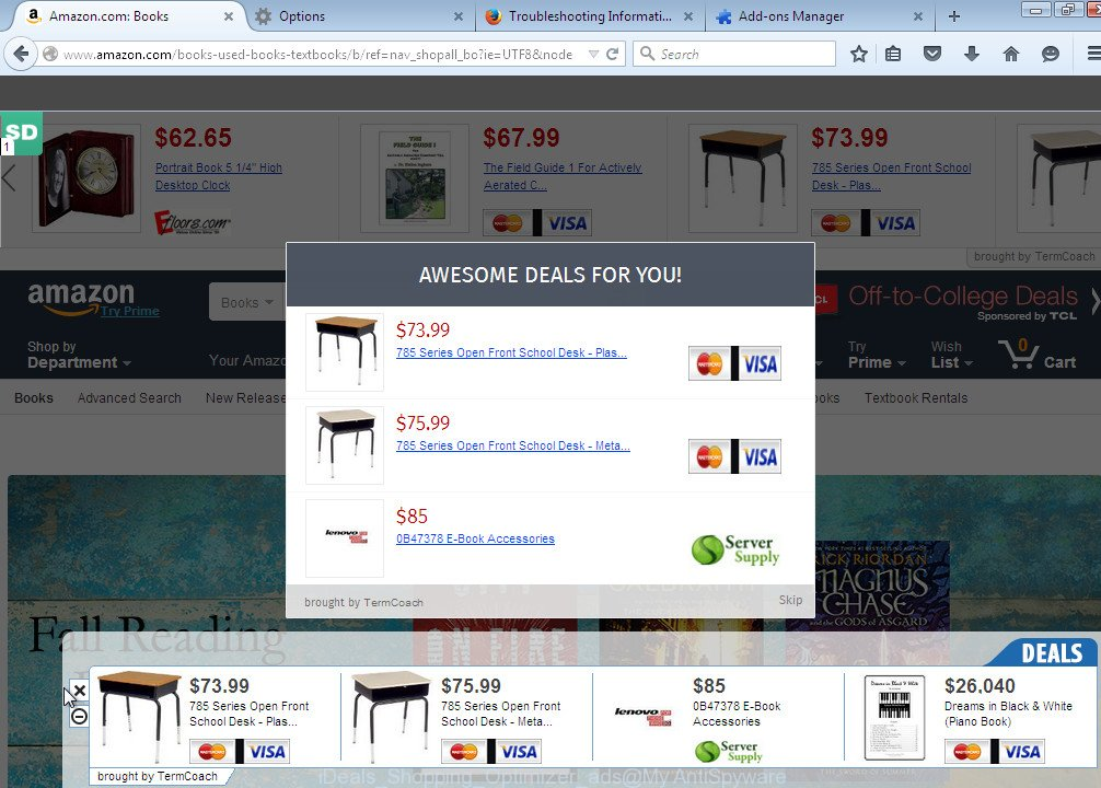 iDeals Shopping Optimizer ads