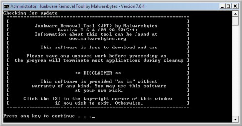 How to use JRT to remove adware and malware