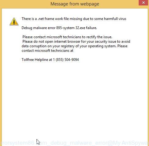 Errorsystem86.com Debug malware error