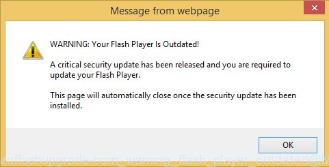 Secure.premiumflashupgrade.com Warning flash player outdated