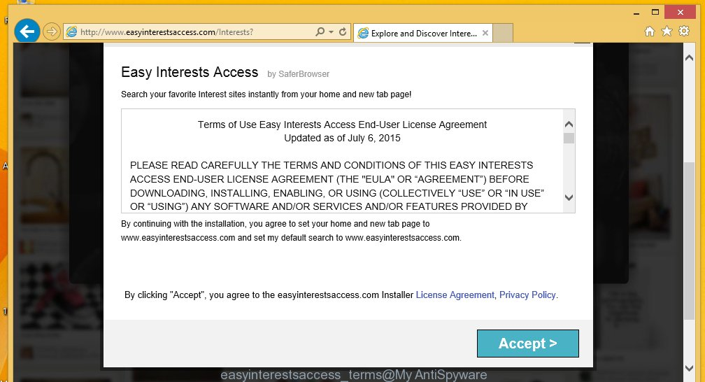 Easy Interests Access Terms of Use