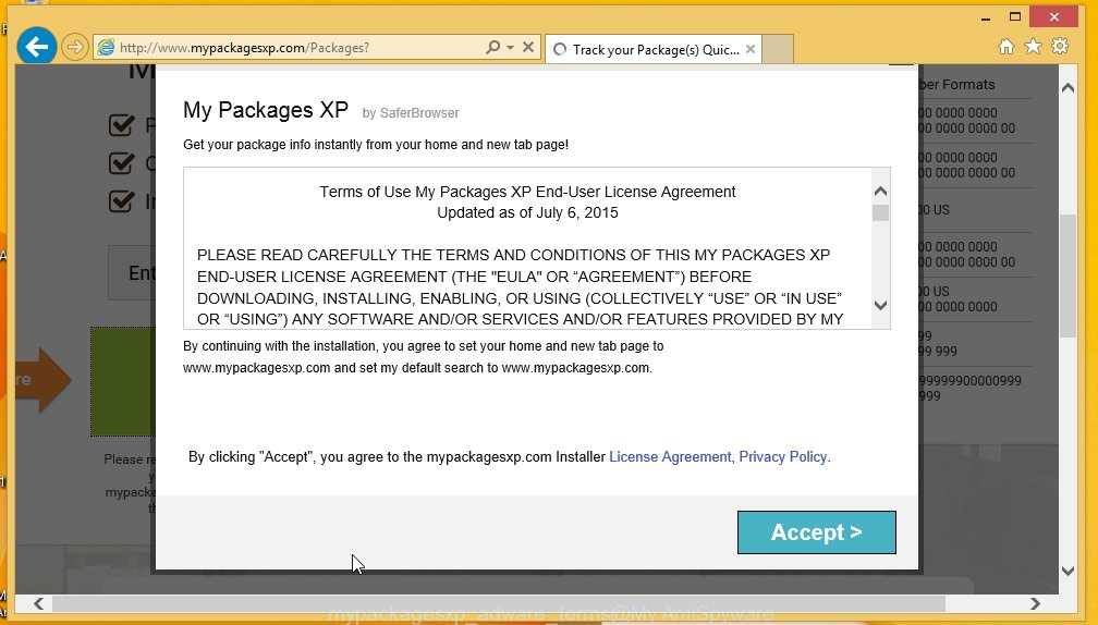 my packages xp adware
