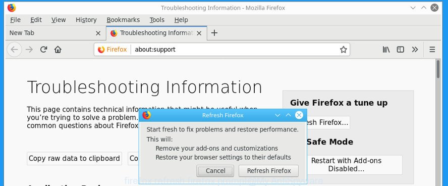firefox refresh firefox prompt
