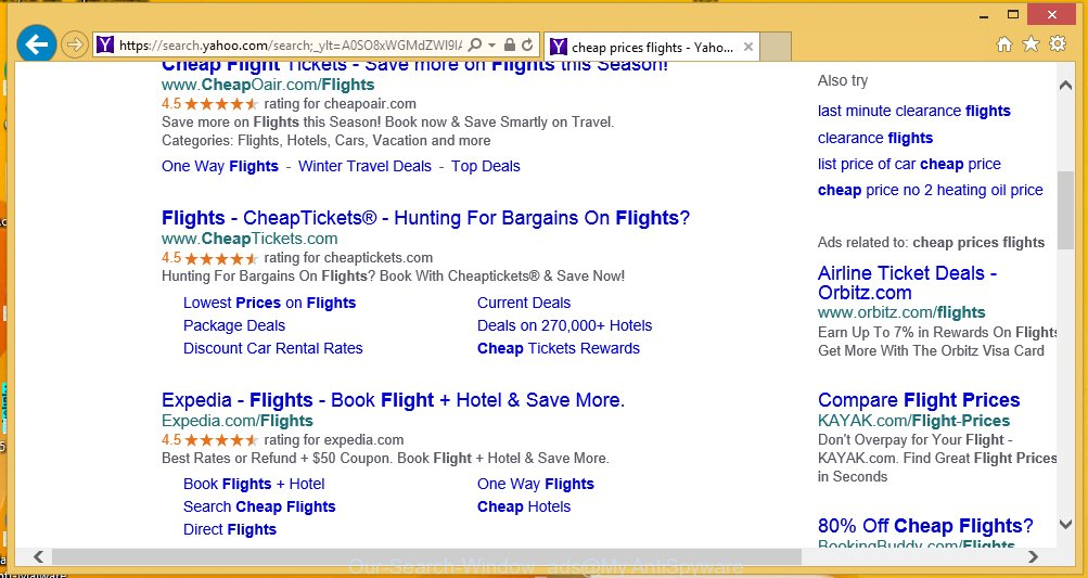 Our Search Window ads