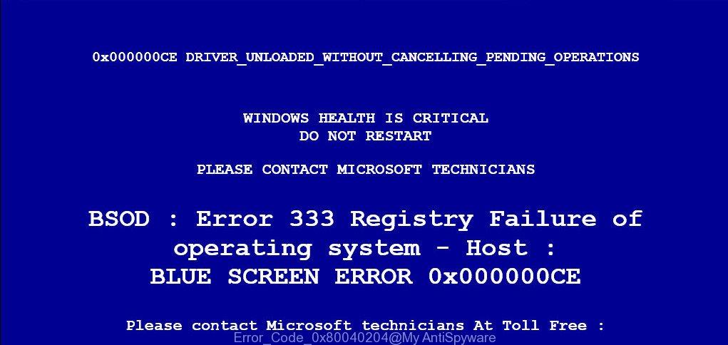 Error Code 0x80040204