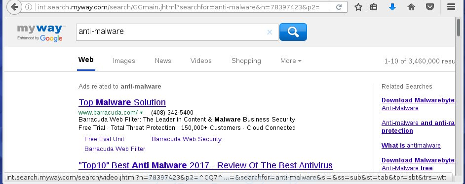 MyWay search results