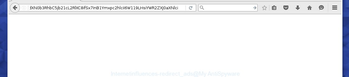 Internetinfluences redirect to ads