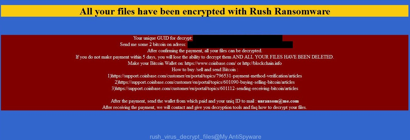 DECRYPT YOUR FILES, Rush ransomware