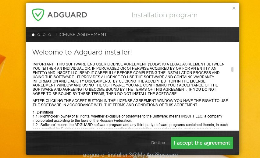 adguard ad blocking installer