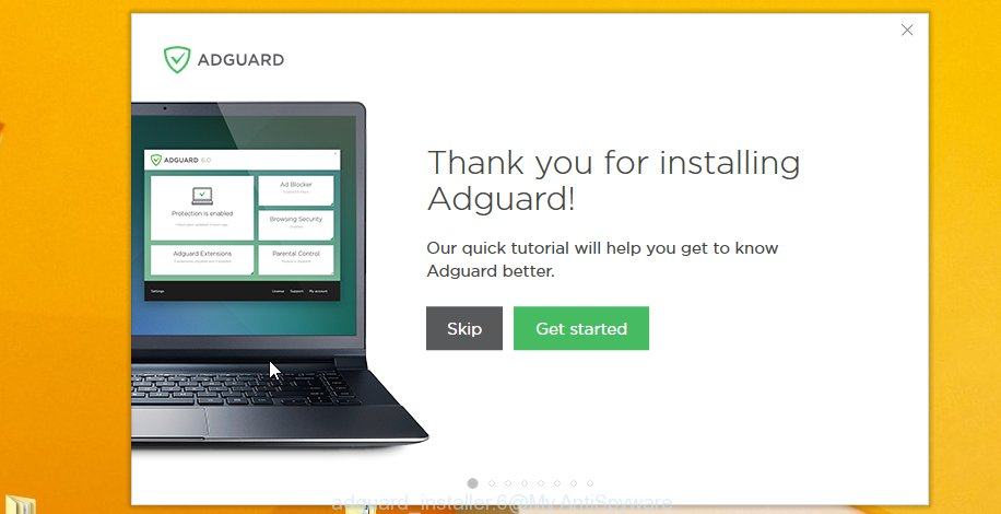 adguard installation is competed