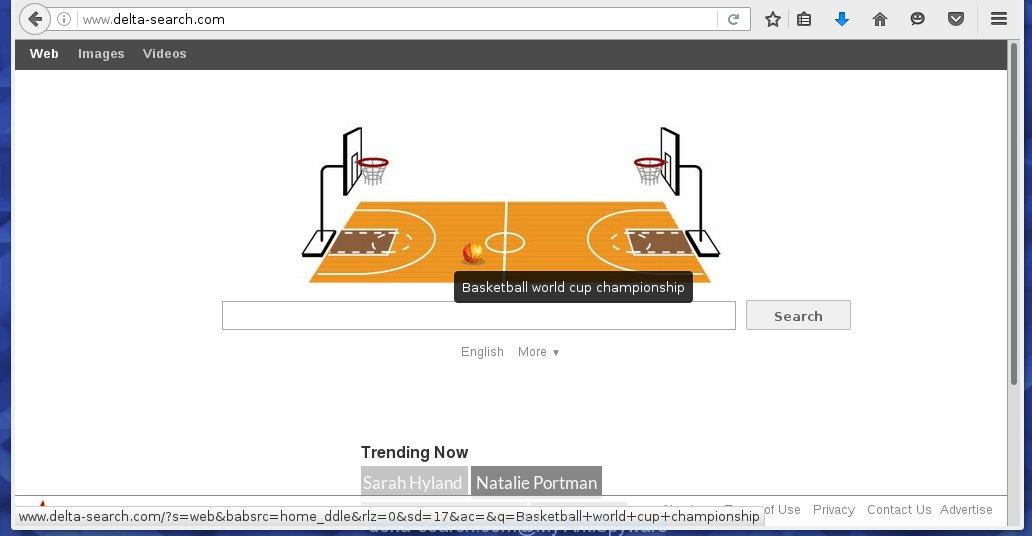 delta-search.com browser hijacker