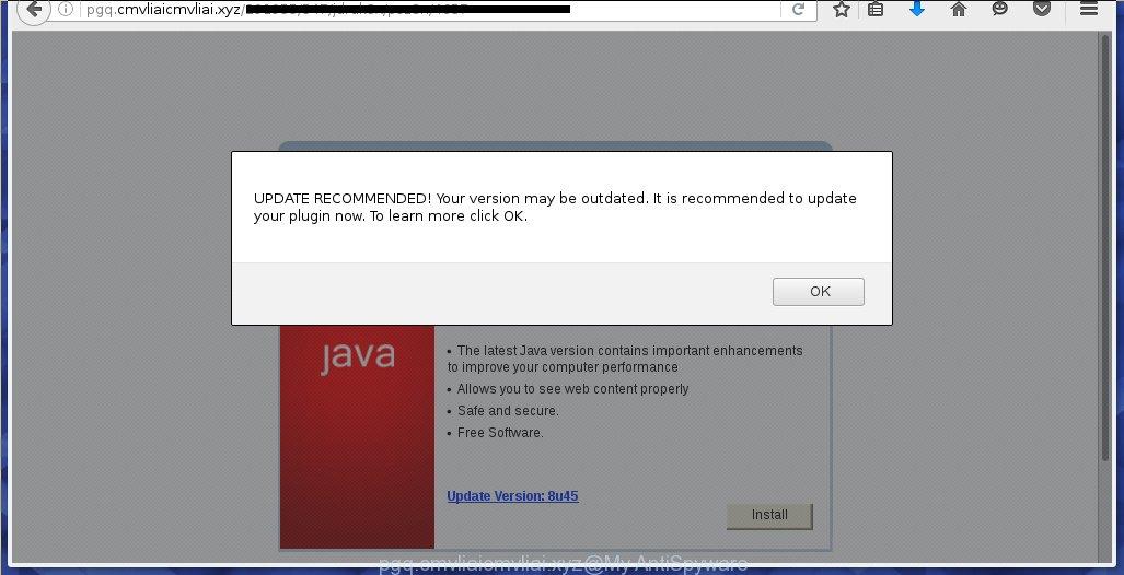 pgq.cmvliaicmvliai.xyz ads offers to install a fake Java update