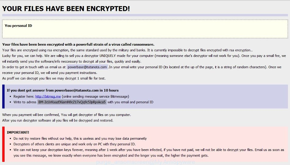 purge virus ransomscreen