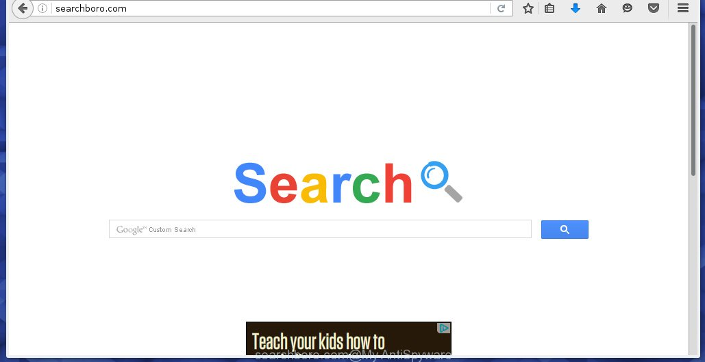 Searchboro.com browser hijacker