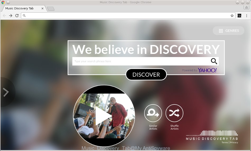 Music Discovery Tab