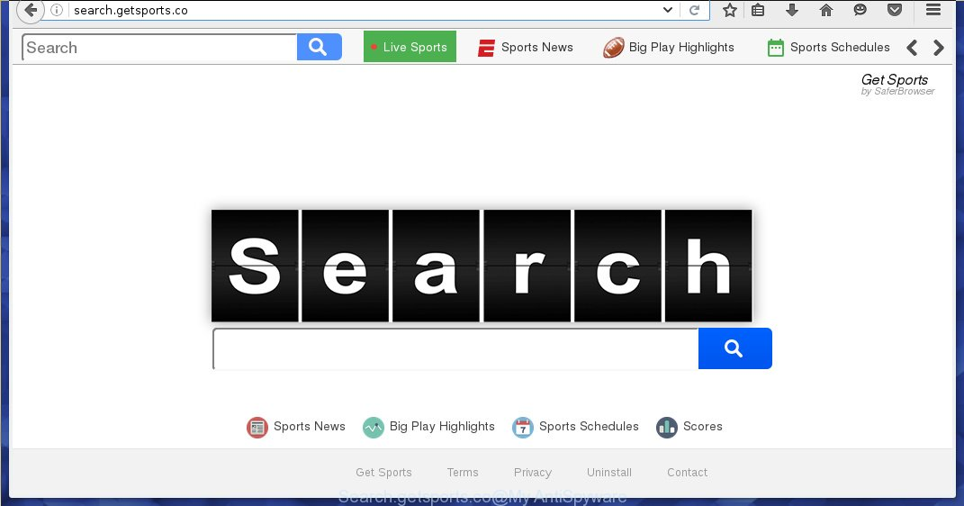 http://search.getsports.co/ - New Tab Search