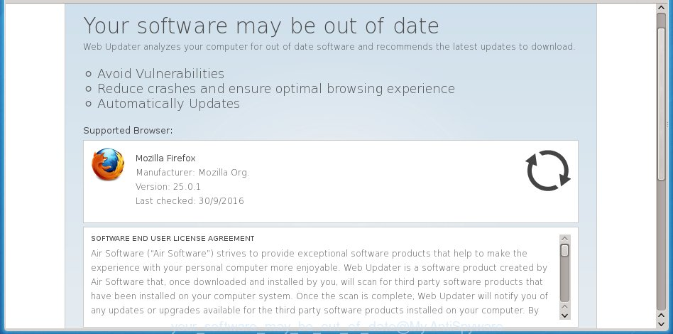 """Your software may be out of date"" - fake update offers"