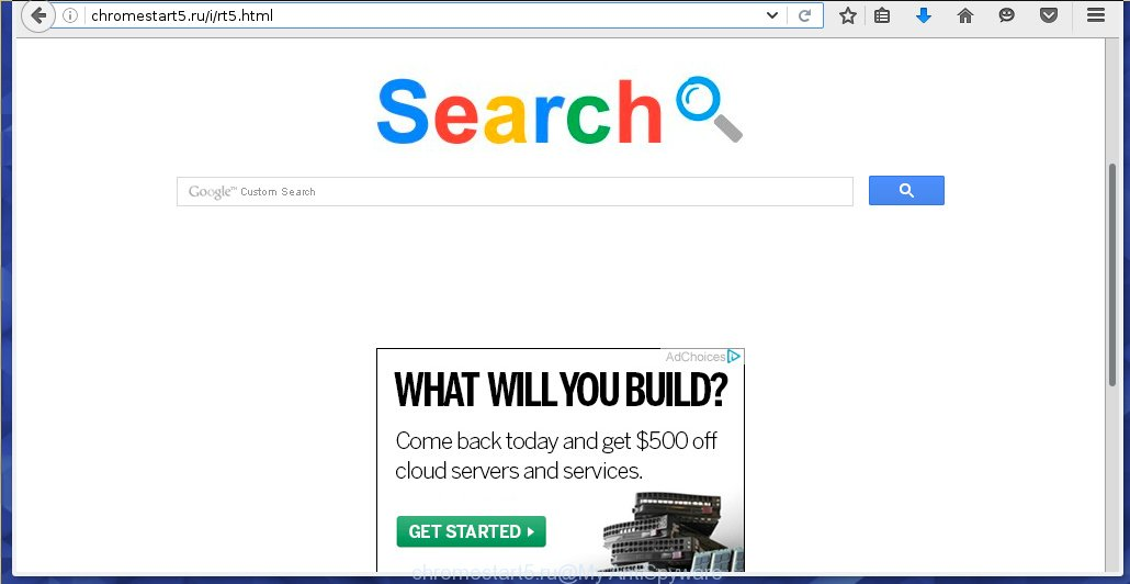 http://chromestart5.ru/i/rt5.html replaces a browser's startpage