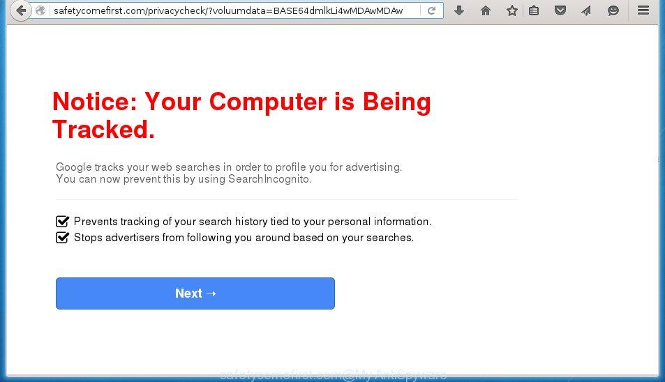 http://safetycomefirst.com/privacycheck/?voluumdata= ...