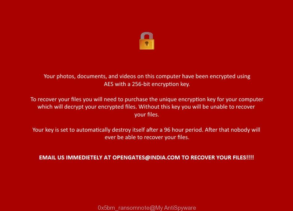 0x5bm virus ransomnote