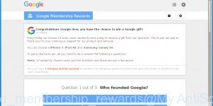 Congratulations Google User, you have the chance to win a Google gift!