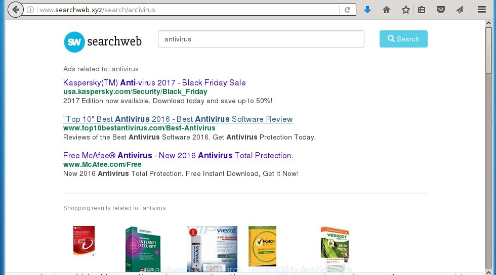 """SearchWeb.xyz - Smarter Search"" results consist a huge amount of ads"